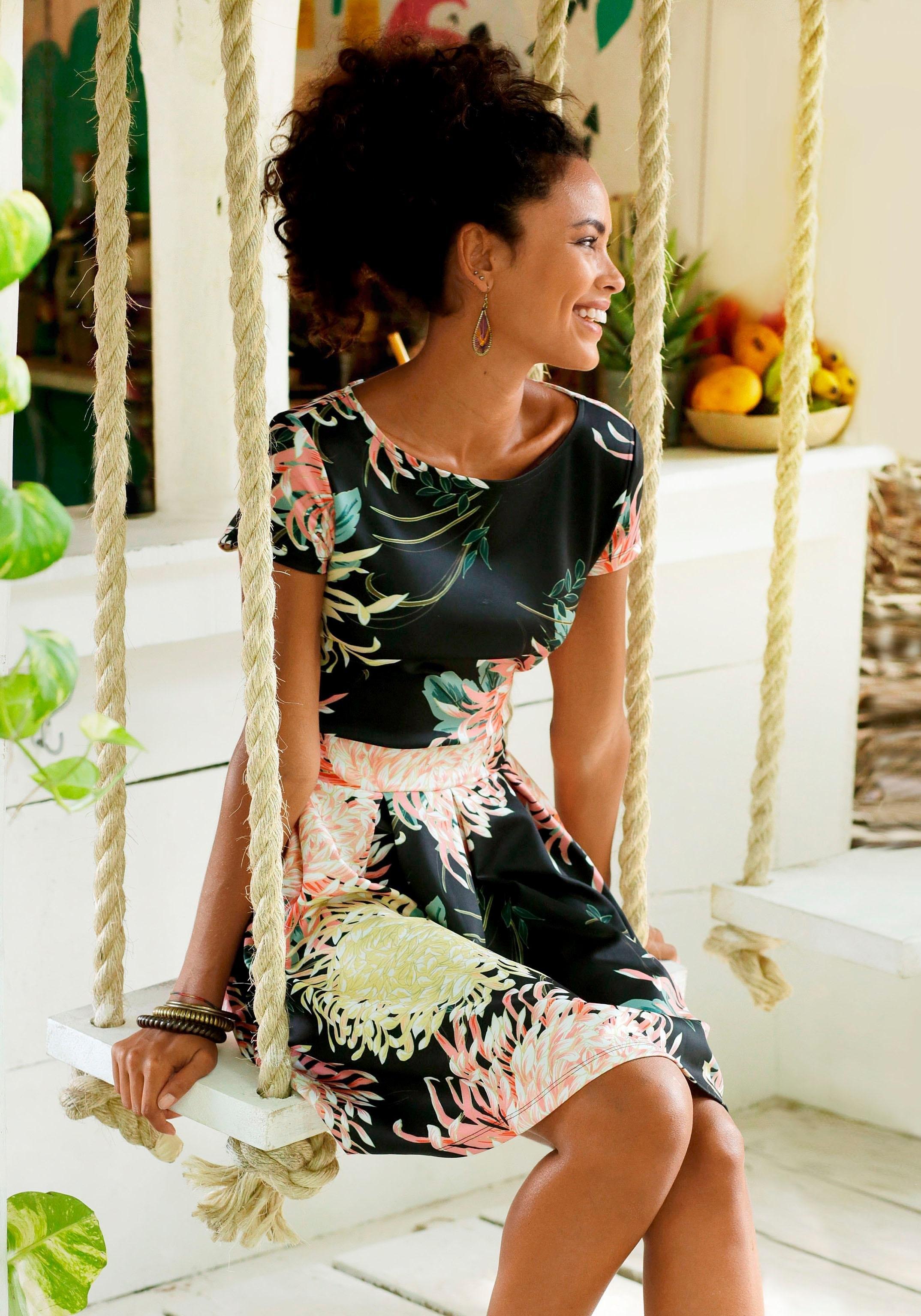 LASCANA scuba-jurk met plooien in de rok - verschillende betaalmethodes