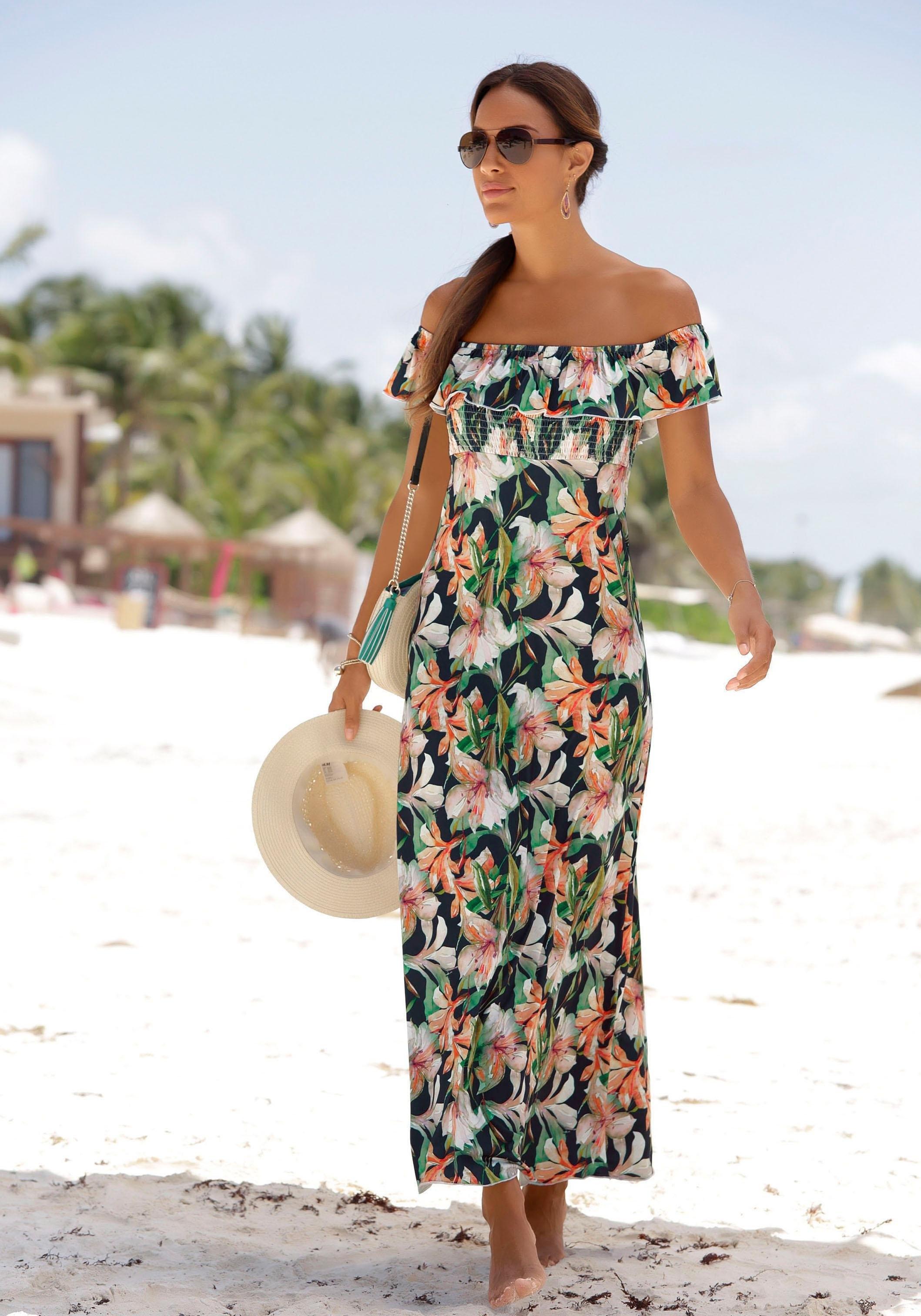 LASCANA maxi-jurk van iets glanzend materiaal voordelig en veilig online kopen