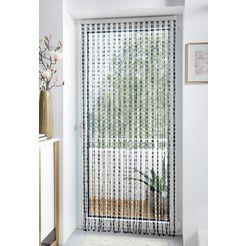 locker deurgordijn pearl kunststof, transparant-zwart, 72 strengen (1 stuk) multicolor