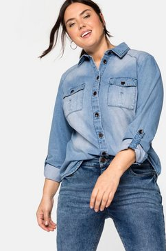 sheego jeansblouse