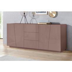 tecnos dressoir »vega«, breedte 220 cm bruin