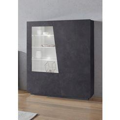 tecnos highboard »vega«, hoogte 146 cm grijs