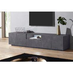 tecnos tv-meubel vega breedte 220 cm grijs