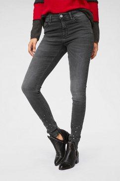 jacqueline de yong skinny fit jeans »fonda« grijs