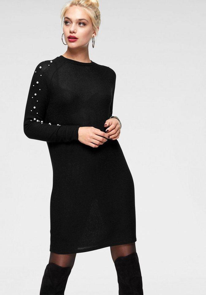 Vero Moda tricotjurk ROYANNA zwart