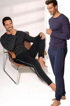 arizona pyjama lang (set van 2) met in het garen geverfde strepen multicolor