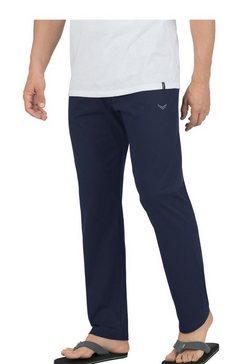 trigema pyjamabroek van biokatoen blauw