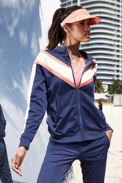 active by lascana trainingsjack met colourblocking blauw