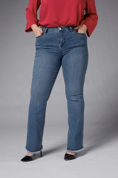 gmk curvy collection bootcut jeans blauw