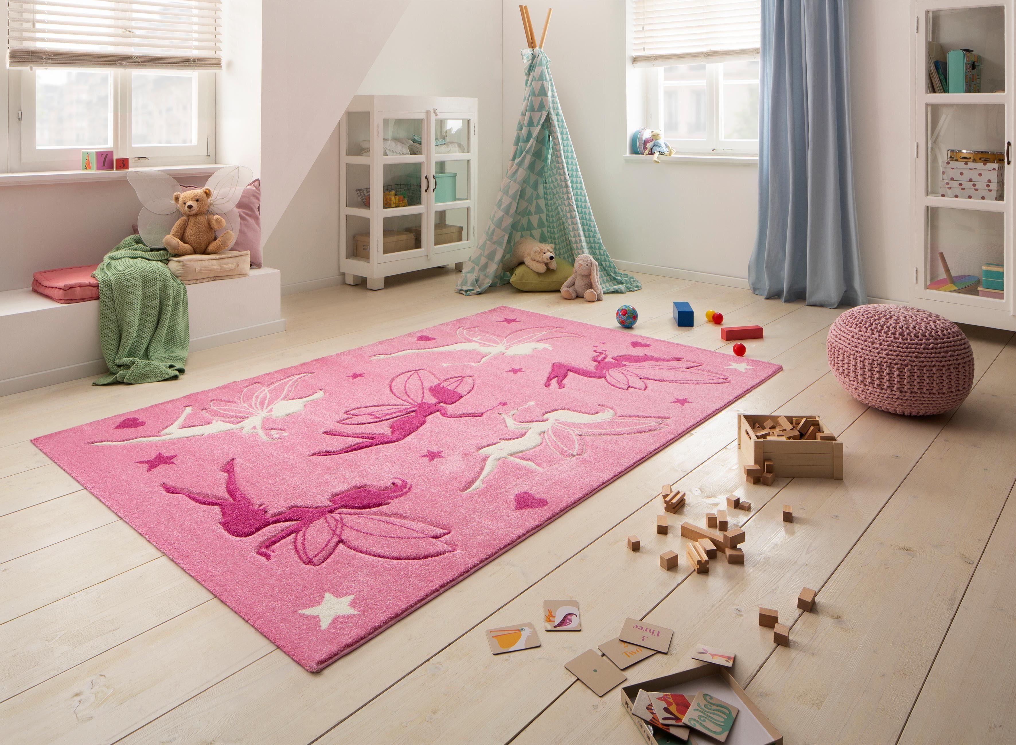 Vloerkleed Kinderkamer Roze : Vloerkleed voor de kinderkamer fee« lüttenhütt motiefmodel