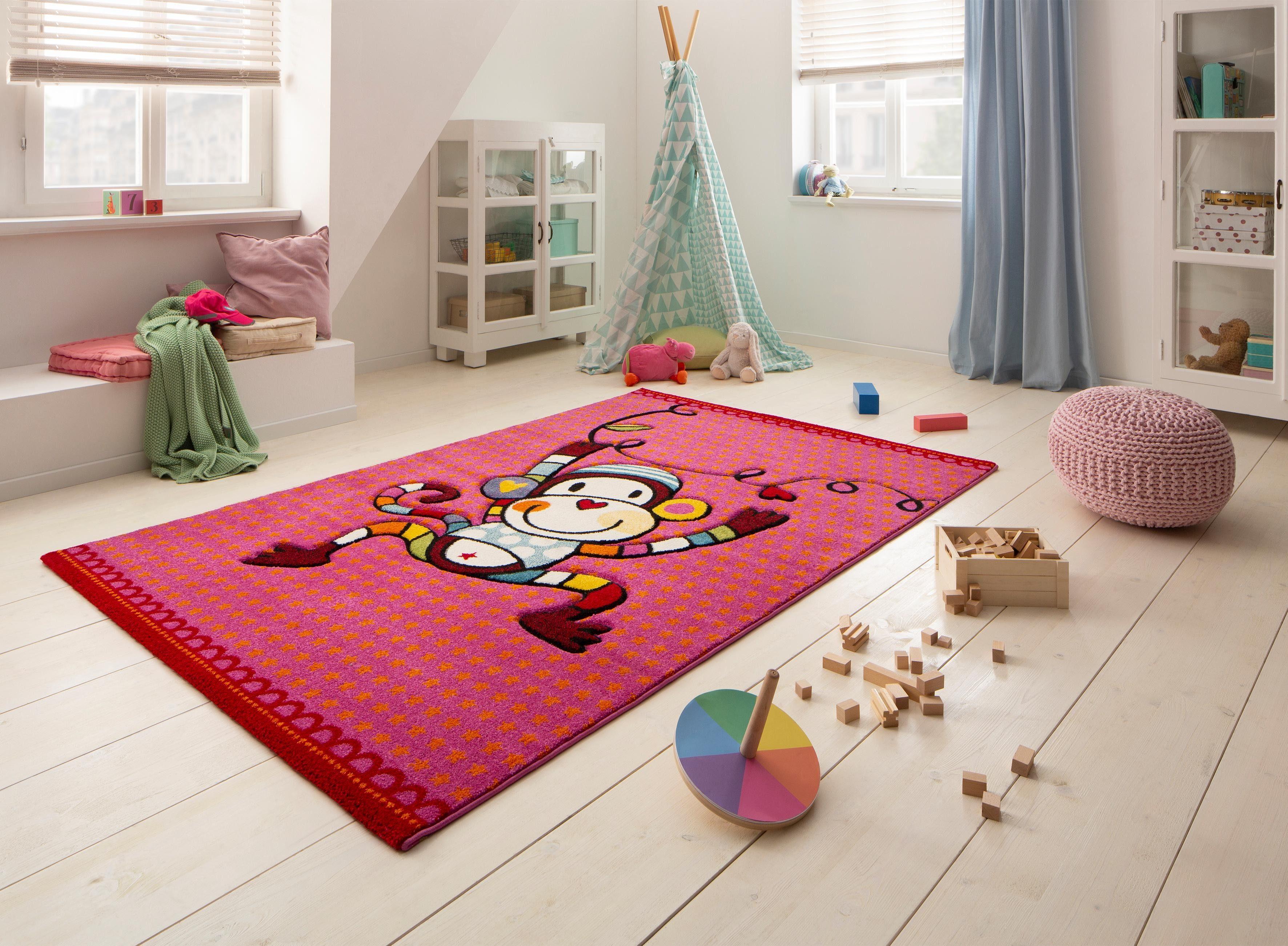 Vloerkleed Kinderkamer Roze : Vloerkleed voor de kinderkamer aap« lüttenhütt motiefmodel
