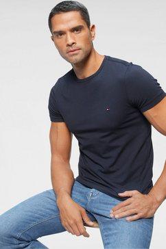 tommy hilfiger t-shirt »core stretch slim cneck tee« blauw