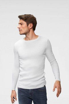 john devin trui met ronde hals wit