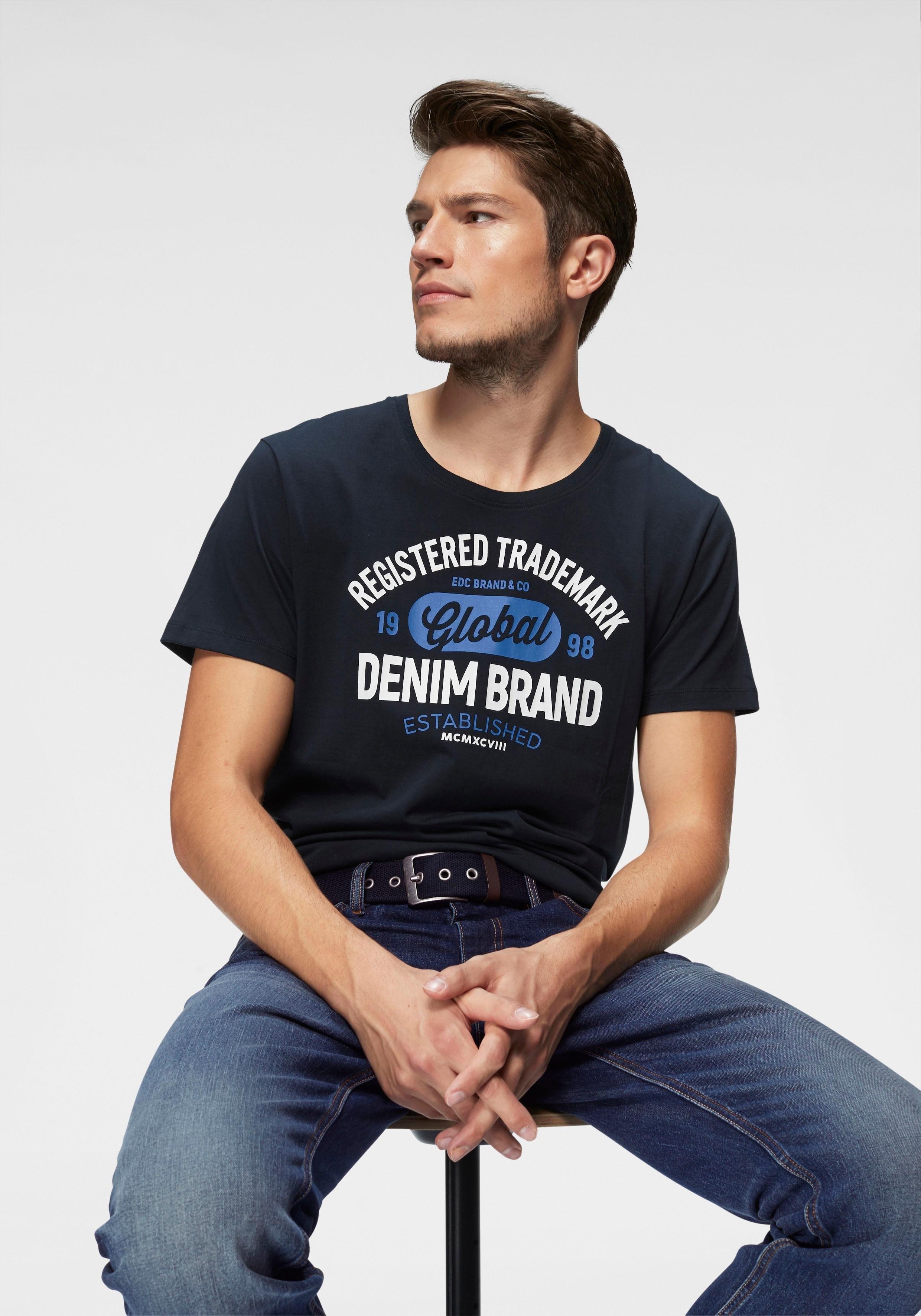 edc by esprit shirt met ronde hals veilig op otto.nl kopen