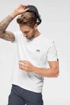 alpha industries shirt met ronde hals »basic t small logo« wit
