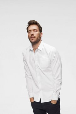 john devin overhemd met lange mouwen wit