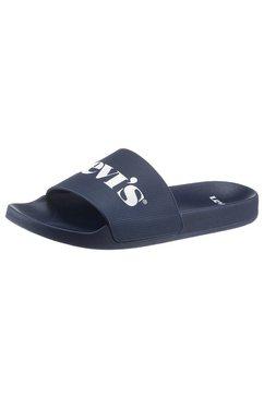 levi's slippers june mono met levi´s logo blauw