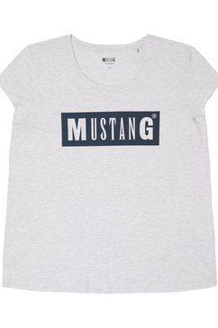 mustang t-shirt »alina c logo tee« grijs