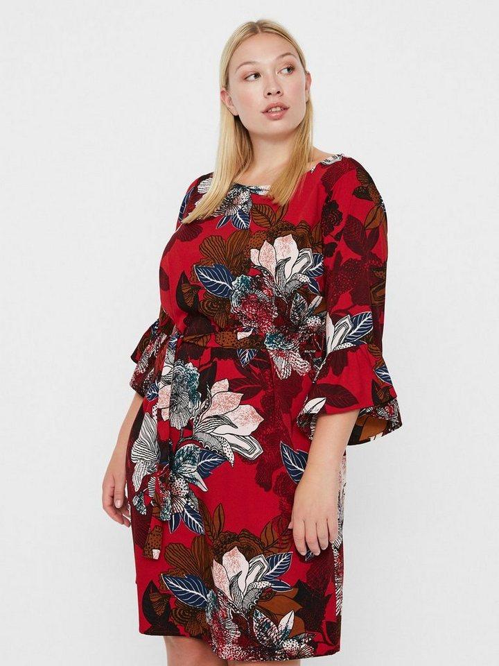 Junarose Bloemenprint jurk rood