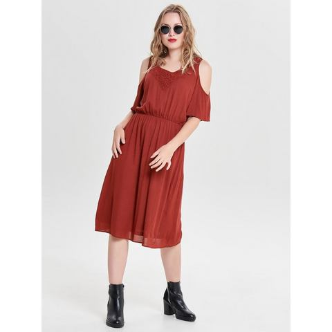 ONLY Cold-shoulder jurk rood