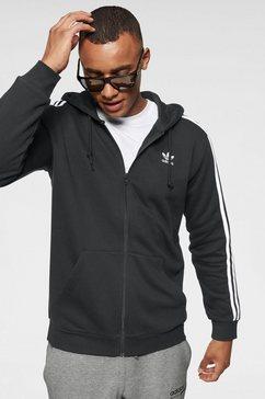 adidas originals capuchonsweatvest »3-streifen kapuzenjacke« zwart