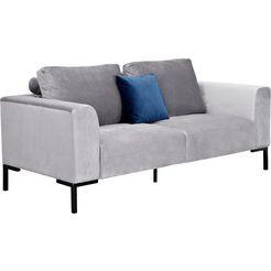 atlantic home collection 3-zitsbank grijs