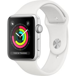 apple series 3 gps, aluminiumkast met sportarmband 38 mm watch (watchos 5) zilver