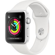 apple series 3 gps, aluminiumkast met sportarmband 42 mm watch (watchos 5) zilver