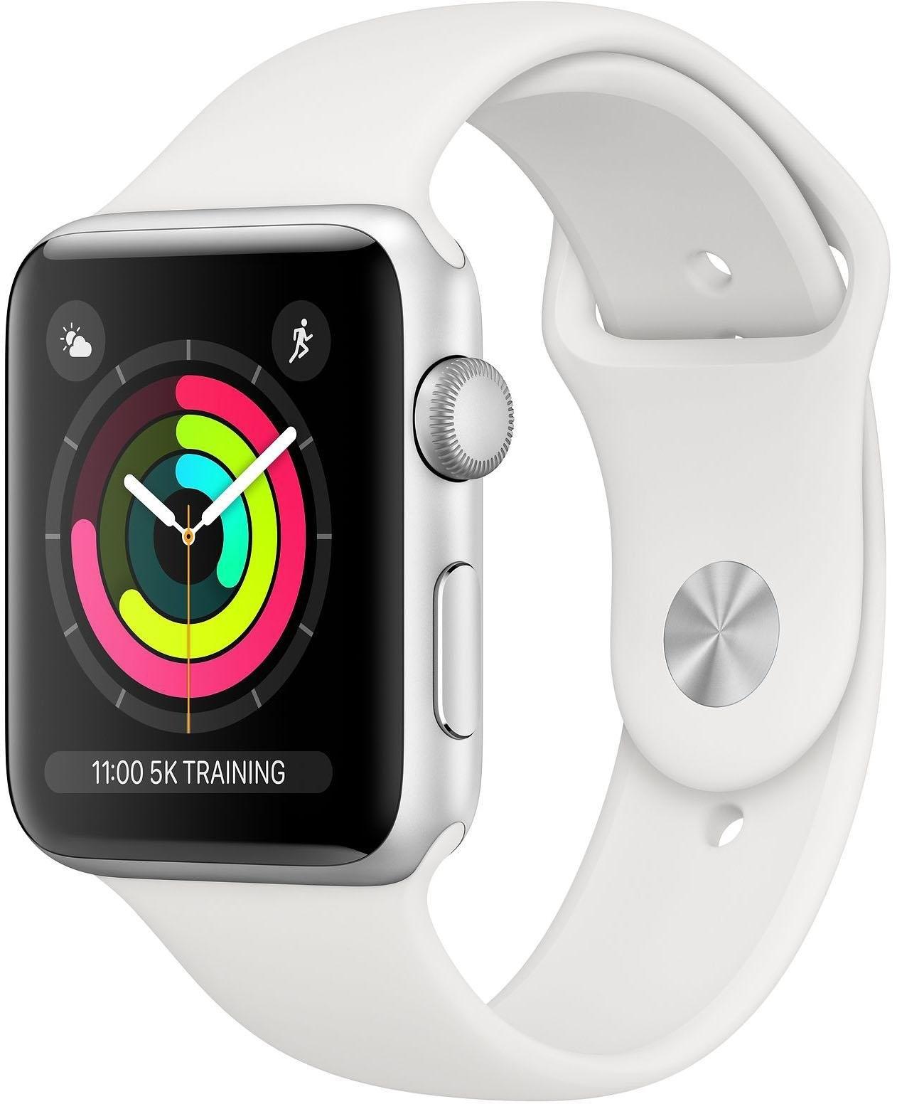 Apple Series 3 GPS, aluminiumkast met sportarmband 42 mm Watch (watchOS 5) bestellen: 30 dagen bedenktijd