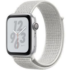 apple nike+ series 4 gps, aluminiumkast met nike-sportarmband loop 44 mm watch (watchos 5) zilver