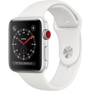 apple »series 3 gps + cellular, aluminiumgehaeuse mit sportarmband 38mm« watch zilver