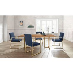 "guido maria kretschmer homeliving stoel ""kiarwei"" blauw"