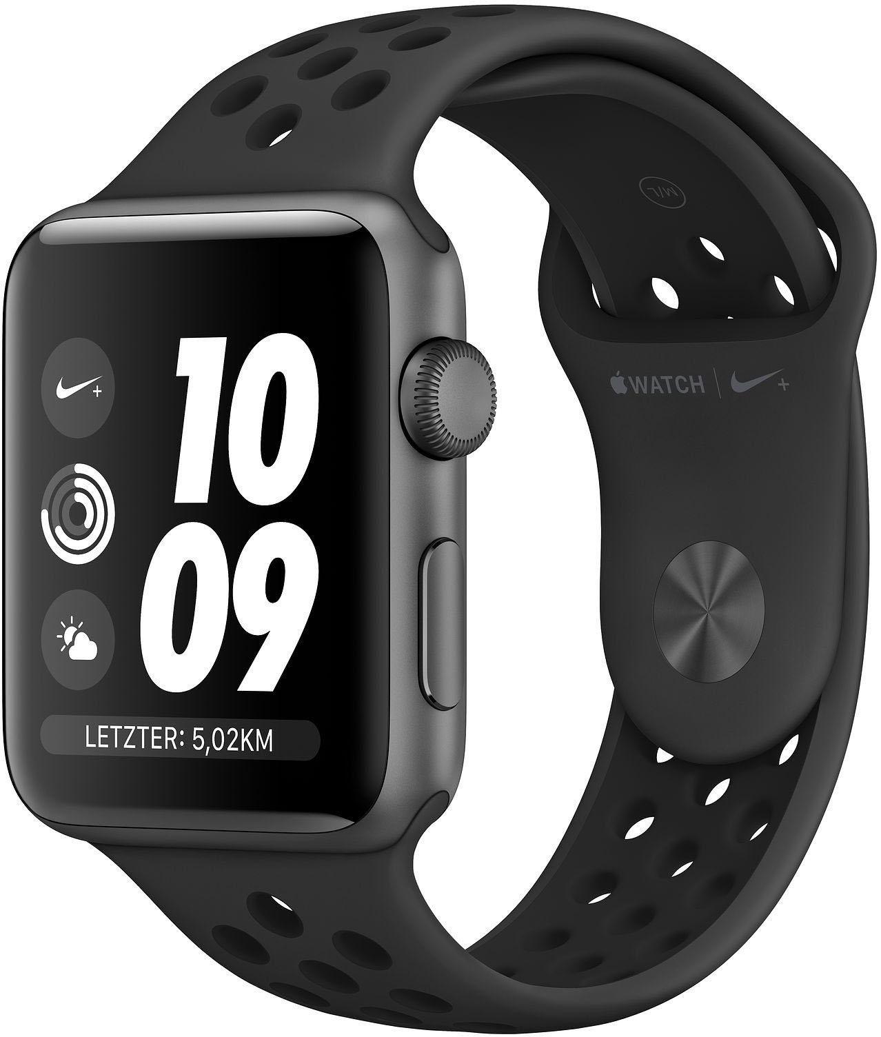 Apple Nike+ Series 3 GPS, aluminiumkast met Nike-sportarmband 38 mm Watch (watchOS 5) online kopen op otto.nl