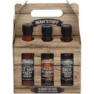 man'stuff hautreinigungs-set (set, 6-delig) bruin
