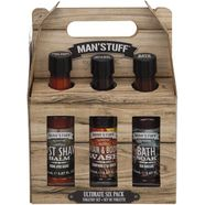 man'stuff reinigingsset voor de huid ultimate sixpack (set, 6-delig) bruin