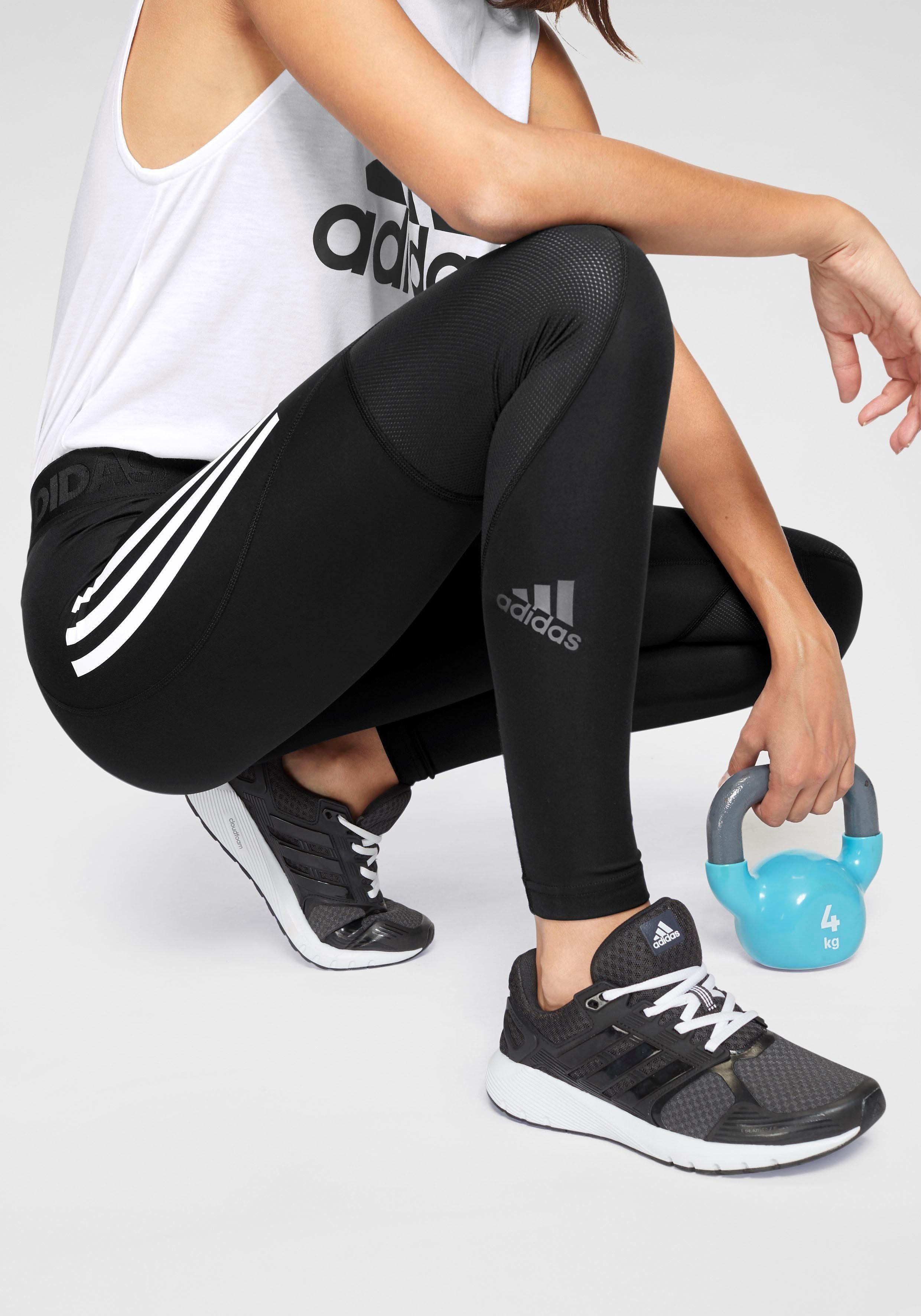 adidas Performance functionele tights »ALPHASKIN SPORT LT 3 STRIPES«