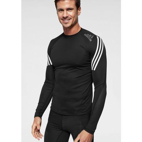 adidas Performance shirt met lange mouwen ALPHASKIN SPORT LEVEL LONGSLEEVE 3 STRIPES