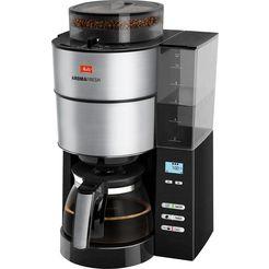 melitta koffiezetapparaat met maalwerk melitta aromafresh 1021-01, met een geïntegreerd maalwerk zwart