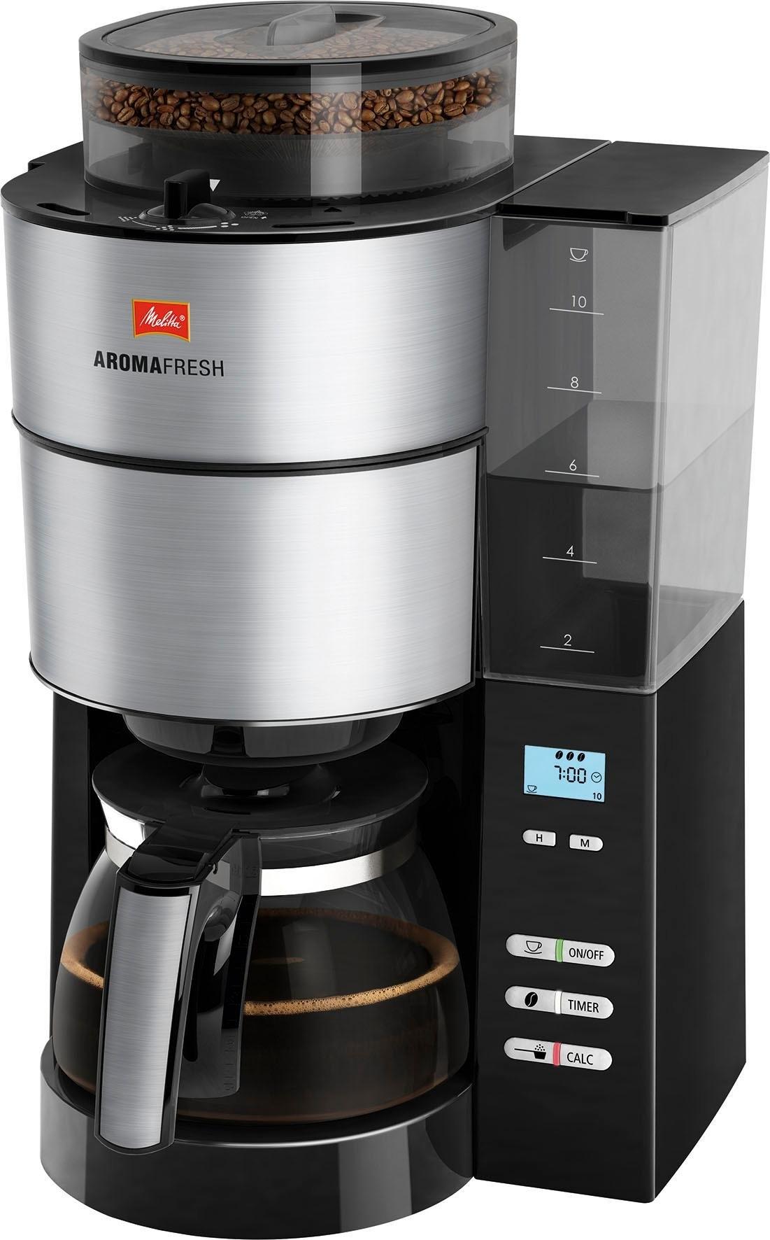 Melitta koffiezetapparaat met maalwerk Melitta AromaFresh 1021-01, met een geïntegreerd maalwerk - verschillende betaalmethodes