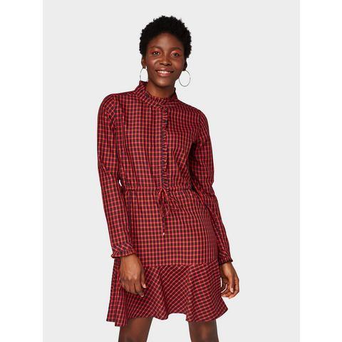 Tom Tailor Denim geruite jurk jurk met ruitmotief,   $( function () {    $(
