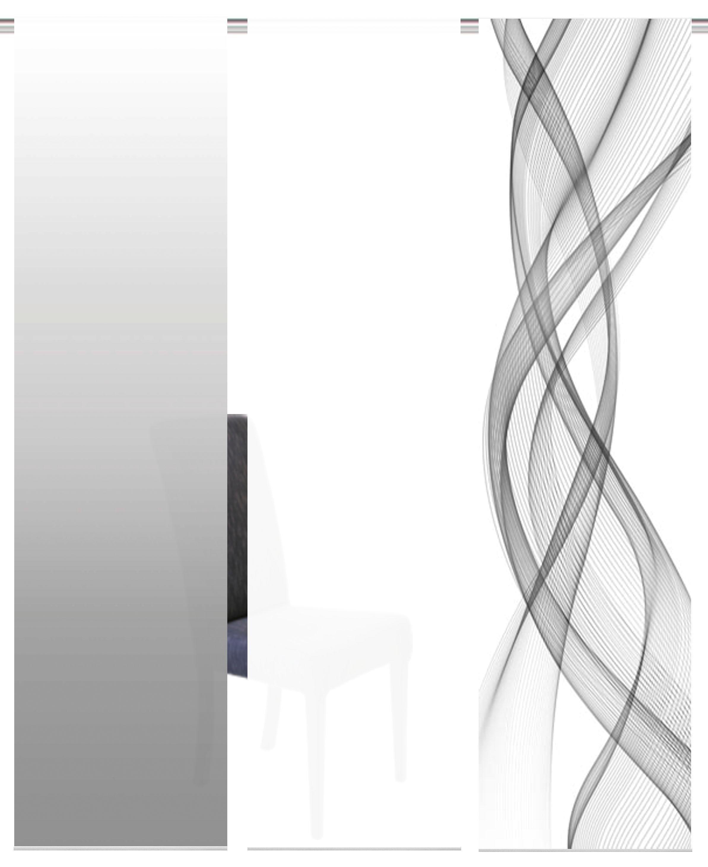 HOME WOHNIDEEN paneelgordijn FERROLA HxB: 245x60, inclusief bevestigingsmateriaal (3 stuks) nu online kopen bij OTTO