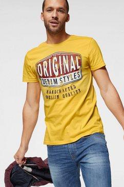 john devin shirt met ronde hals geel