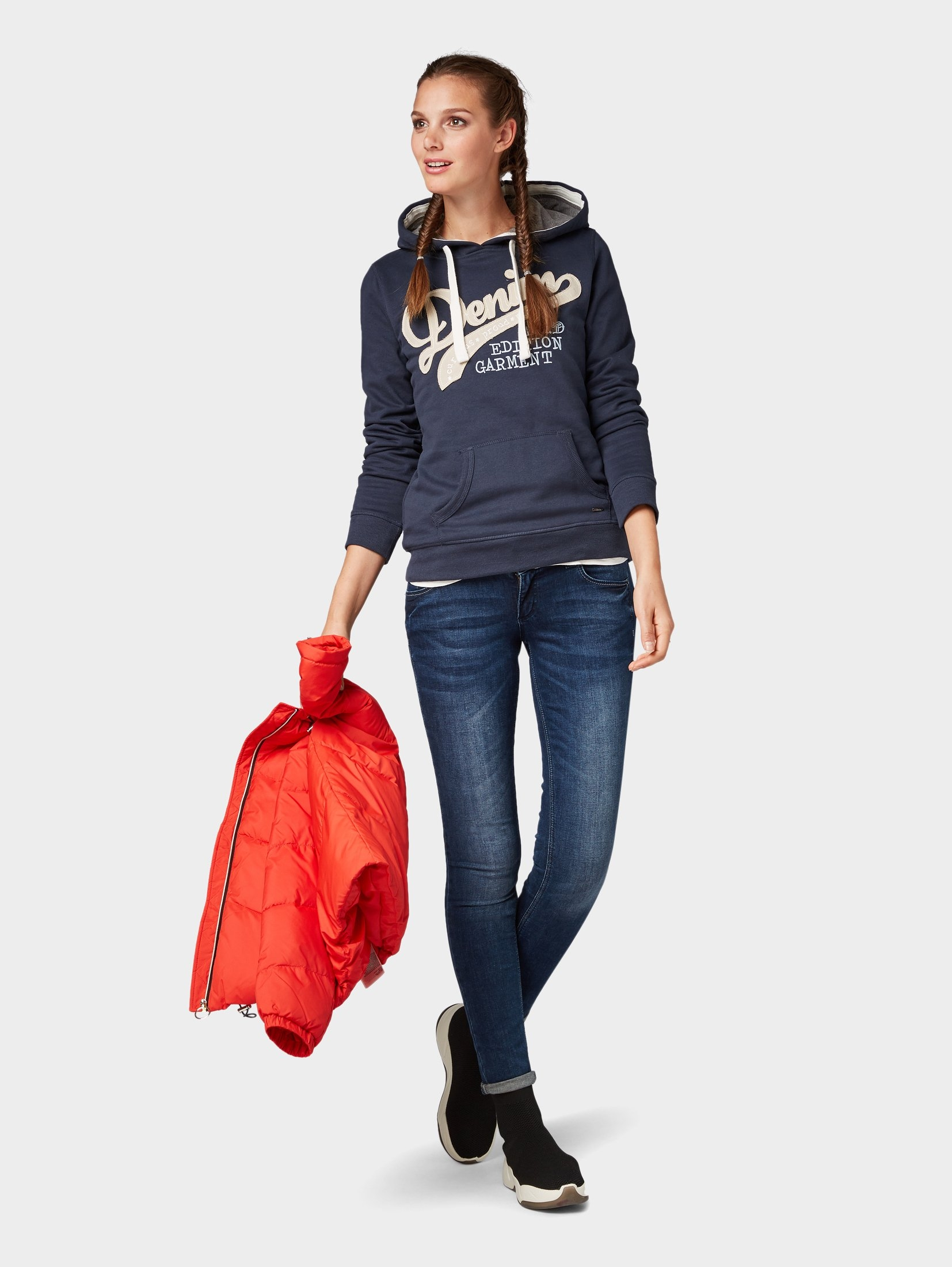 Denim Tom Hoodiehoodie Shop Met In De Tailor Online Logoprint QreCBxWdo