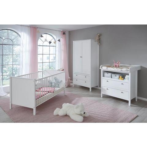Complete kamer (3-delige set) Westerland ledikantje + commode + 2-deurs kledingkast in wit