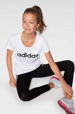 adidas t-shirt »young e linear tee« wit