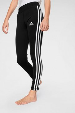 adidas performance functionele tights »young girl training equipment 3 stripes long tight« zwart