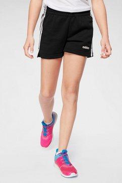 adidas sweatshort »e 3 stripes short« zwart