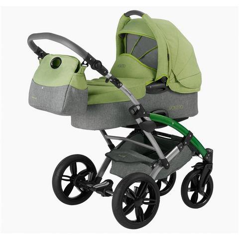 knorr-baby combi-kinderwagen, Voletto Happy Colour, grijs-lichtgroen