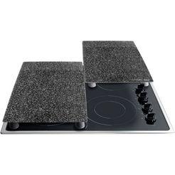 stoneline kookplaat-afdekblad – the original! 2-delige set zwart