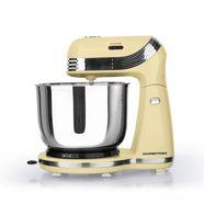 gourmetmaxx keukenmachine retro 250 w vanille, 250 w, kom 3 liter geel